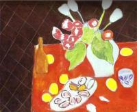 Тюльпаны и устрицы на чёрном фоне. Холст, масло. Лувр, Париж, Франция.