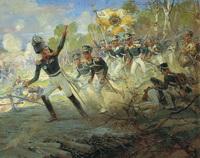 Подвиг солдат Раевского под Салтановкой (Н.С. Самокиш, 1912 г.)