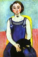 Девушка с чёрной кошкой. 1910. Холст, масло. Частная коллекция.