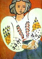 В румынской блузке. 1940. Холст, масло. Национальный музей современного искусства, центр Жоржа Помпиду, Париж, Франция.