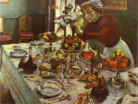 Обеденный стол. 1897. Холст, масло. Частная коллекция.