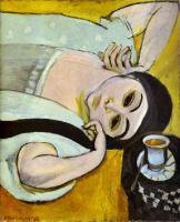 Голова Лауретт с чашкой кофе. 1917.