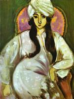Лауретт в белом тюрбане. 1916.