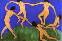 Танец (первая версия). 1909. Холст, масло. Музей современного искусства, Нью-Йорк, США.