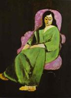 Лауретт в зелёном на чёрном фоне. 1916.
