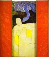 Леда и лебедь.1944-46. Триптих. Дерево, масло. Частная коллекция. More.