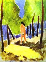 Обнажённая на солнечном пейзаже. 1909. Холст, масло. Частная коллекция.