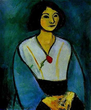 Девушка в зелёном с гвоздикой (Анри Матисс)
