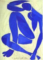 Ню, голубая IV. 1952.Вырезка из бумаги, гуашь. Музей Анри Матисса, Ницца, Франция