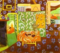 Интерьер в баклажана. 1911-12, гуашь, холст 1911-12. Музей живописи и скульптуры, Гренобль, Франция
