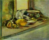 Голубой горшок и лимон. c. 1897. Холст, масло. Эрмитаж.