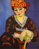 Мадам Матисс в красном платье в полоску. 1907. Холст, масло. Фонд Барнса, Линкольнский университет, Мерион, Пенсильвания, США