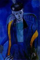 Портрет жены художника. 1912-13. Холст, масло. Эрмитаж.